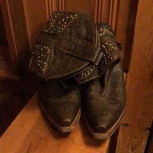 Frye studded cowboy boots